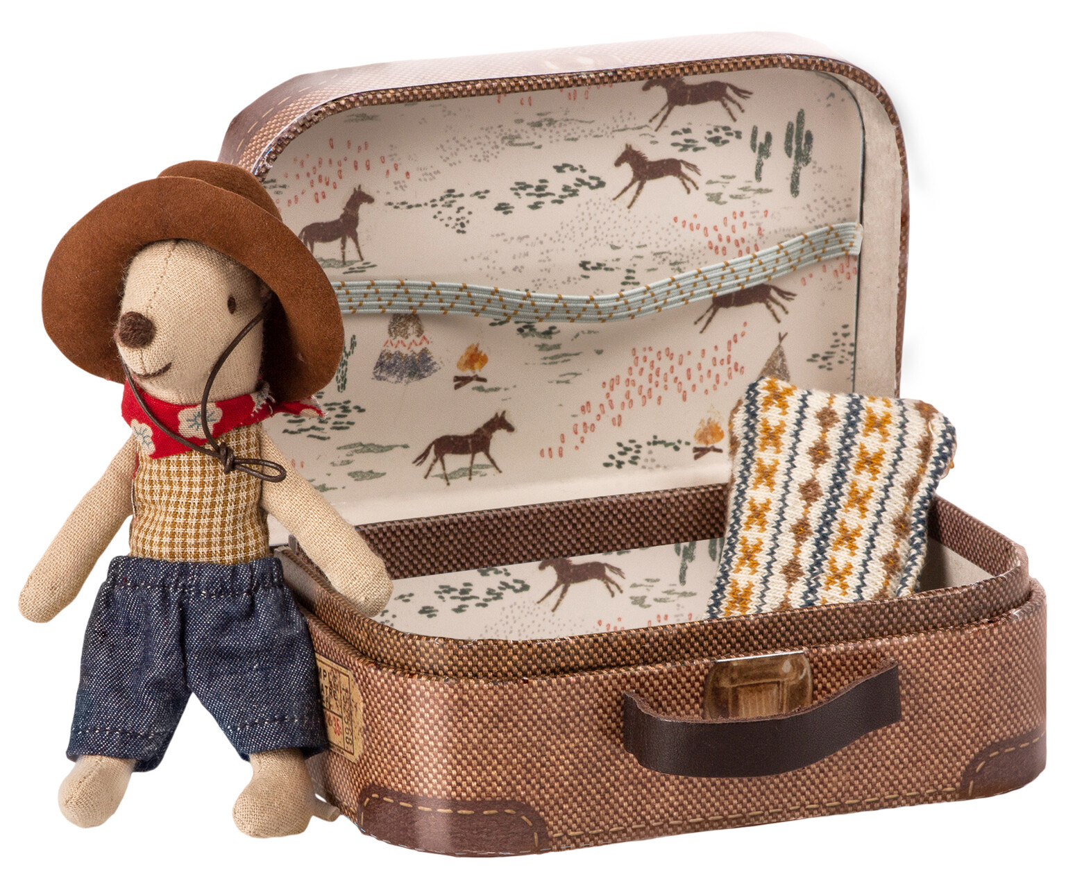 »COWBOY MOUSE IN SUITCASE«  — MAILEG