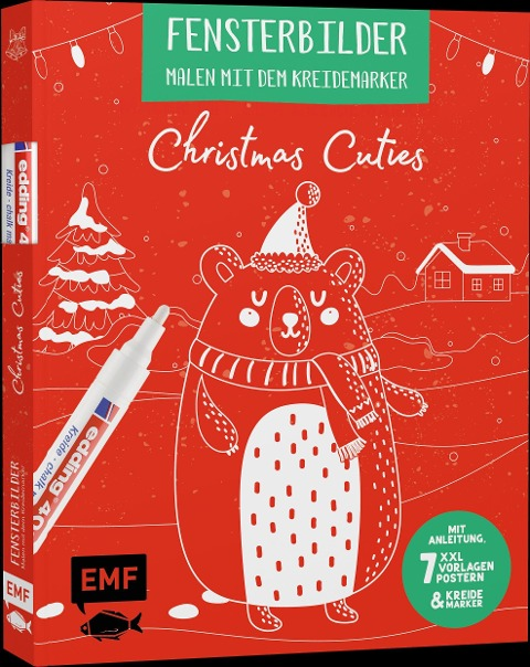 »Vorlagenmappe Fensterbilder malen mit dem Kreidemarker - Christmas Cuties« — EDITION MICHAEL FISCHER