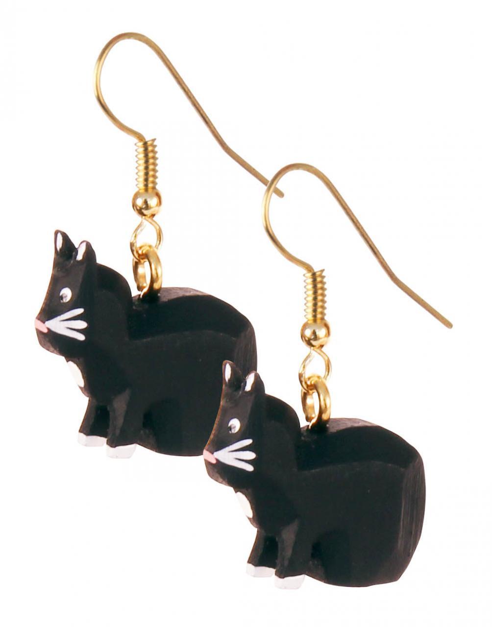 Ohrhänger »Katze schwarz« — Dregeno