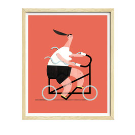 »FashionCyclist« — 30×40cm — Susie Hammer