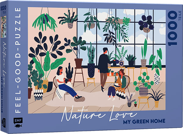 »FEEL-GOOD-PUZZLE 1000 TEILE - NATURE LOVE: MY GREEN HOME« — EMF