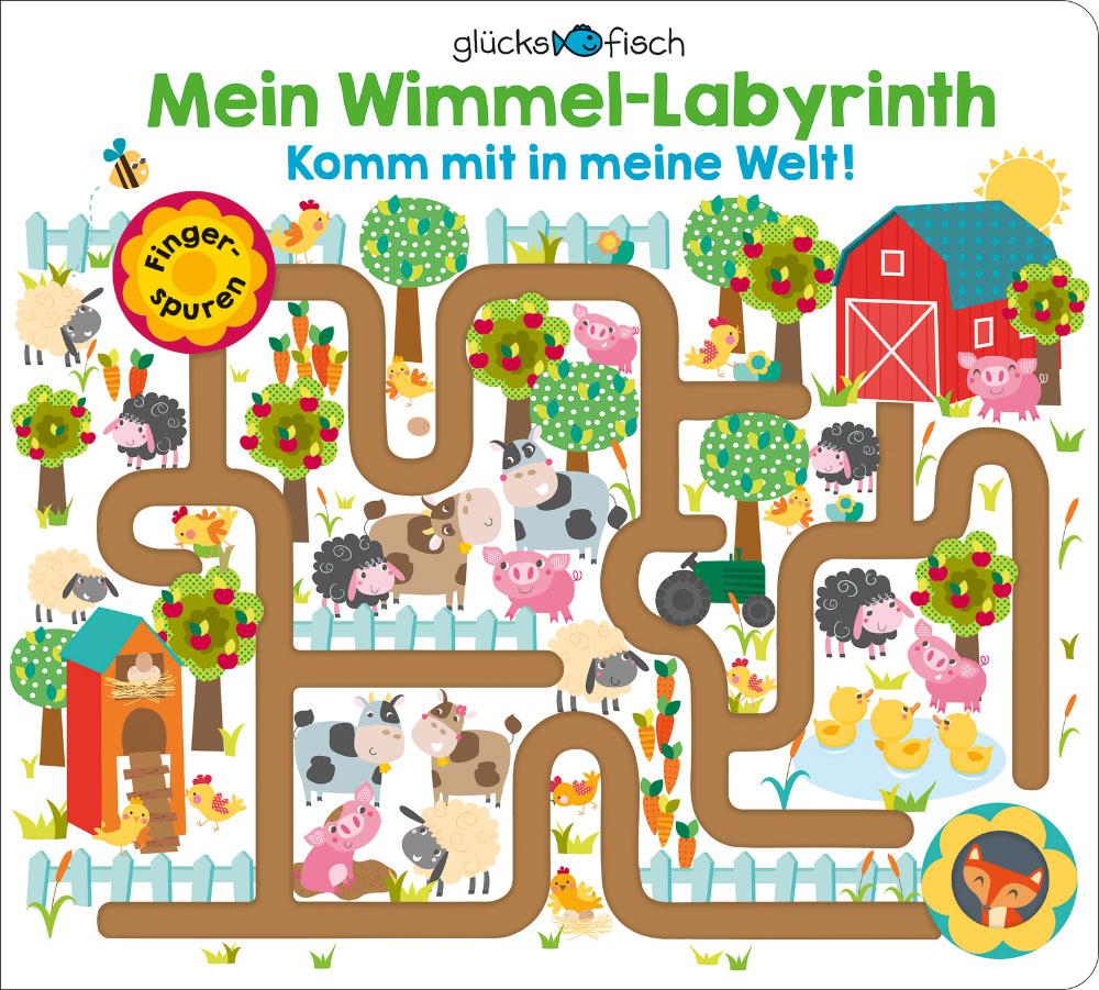 »Glücksfisch: Mein Wimmel-Labyrinth: Komm mit in meine Welt!«  — FISCHER SAUERLÄNDER