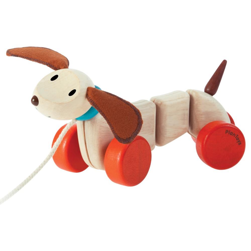 »Nachziehtier Hund« — PLAN TOYS