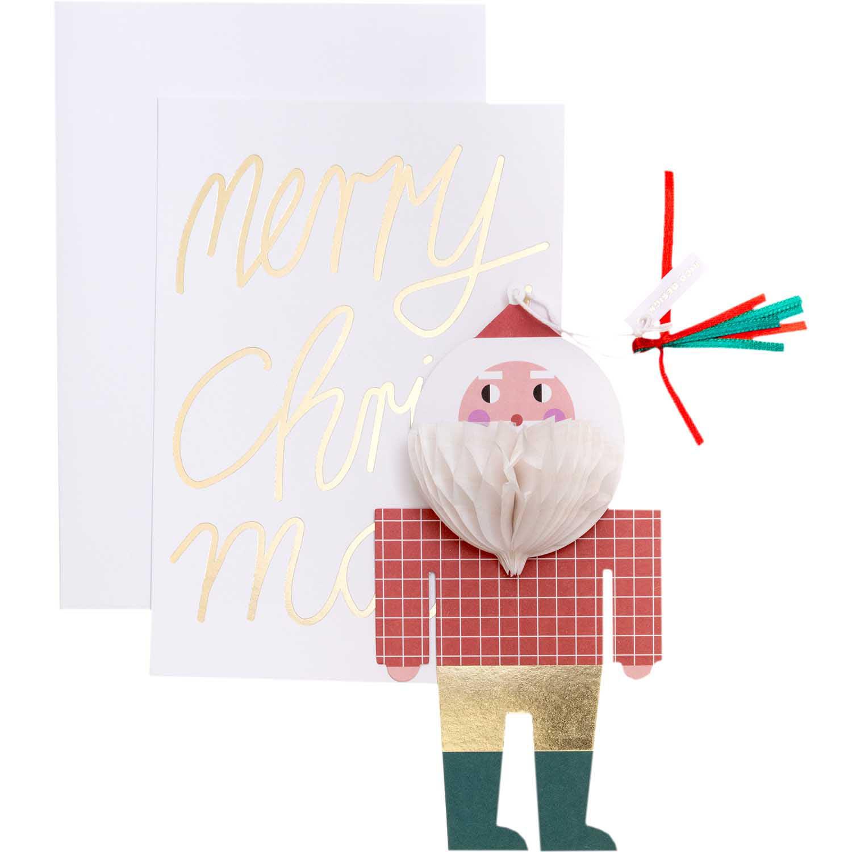 »3D Anhänger Weihnachtsmann mit Karte« — RICO DESIGN